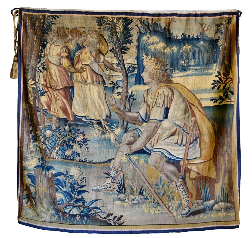 284: PALACE SIZE 17TH C. HAND SEWN FLEMISH TAPESTRY