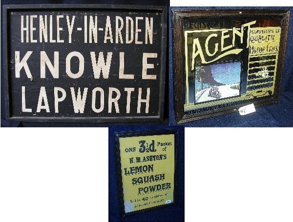 8: 3 ADVERTISING SIGNS: 1ST SIGN KNOWLE LAPWO