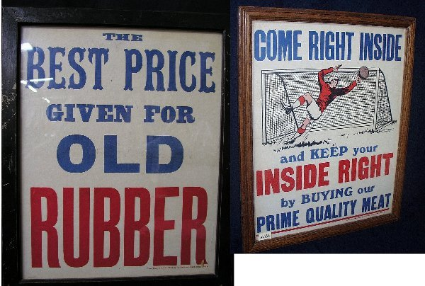 9: 2 ADVERTISING SIGNS 1ST SIGN: BEST PRICE G
