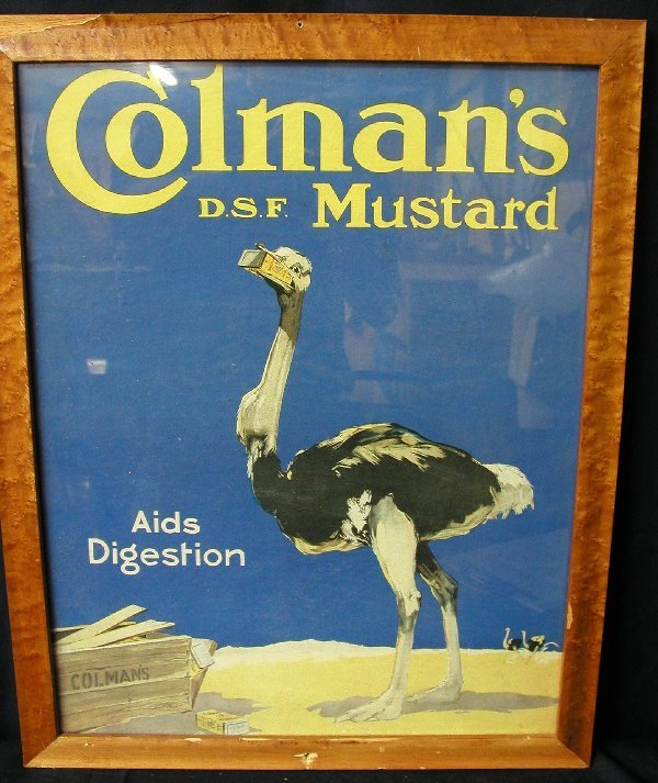 18: ADVERTISING SIGN COLMAN'S MUSTARD POSTER