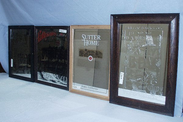 20: ADVERTISING SIGN MIRRORS: TWO BDV KING OF