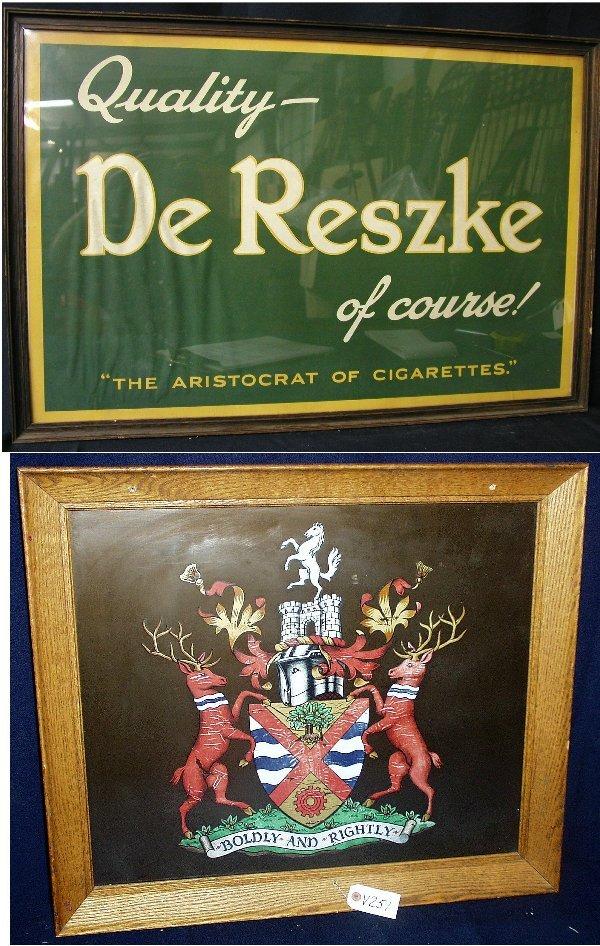 21: 2 ADVERTISING SIGNS 1ST SIGN: DE RESZKE C