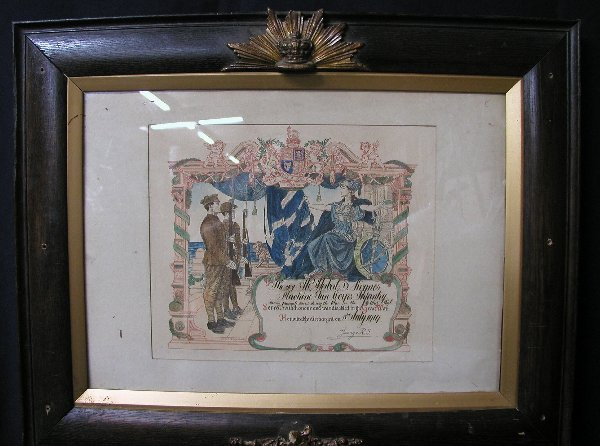 22: WWI DISCHARGE DATED JULY 1919 BRITISH CRO
