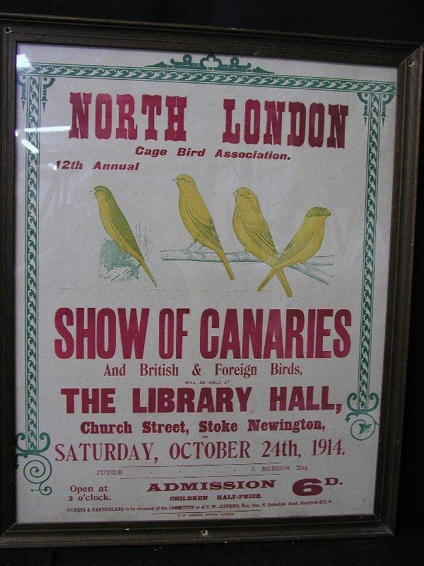 23: 1 ADVERTISING SIGN: LONDON BIRD POSTER CO