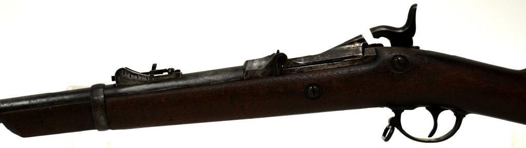 19: ANTIQUE SPRINGFIELD TRAPDOOR CARBINE RIFLE, 1879