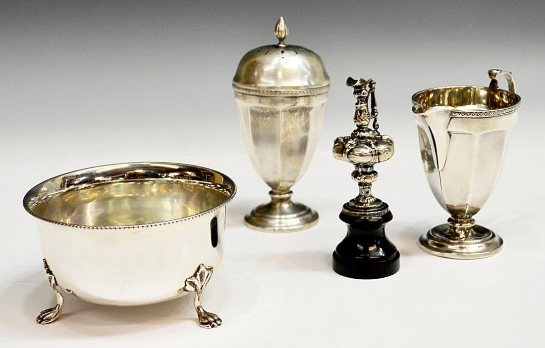26: STERLING SILVER SERVICE WARE & MINIATURE EWER