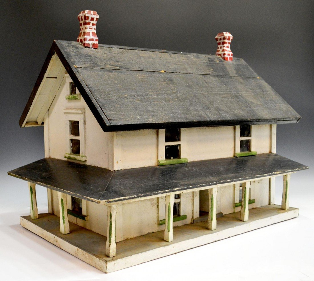70: AMERICAN FOLK ART MODEL OF A HOUSE, C. 1930