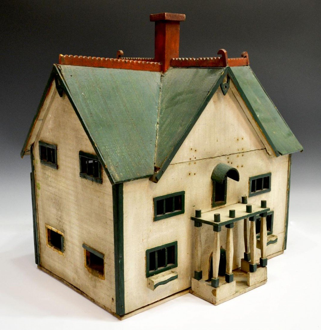 73: AMERCAN FOLK ART MODEL OF A TWO STORY HOUSE