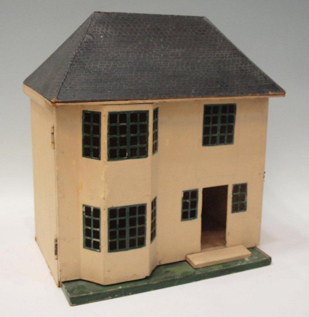 74: AMERICAN PAINTED FOLK ART DOLL HOUSE, C. 1930