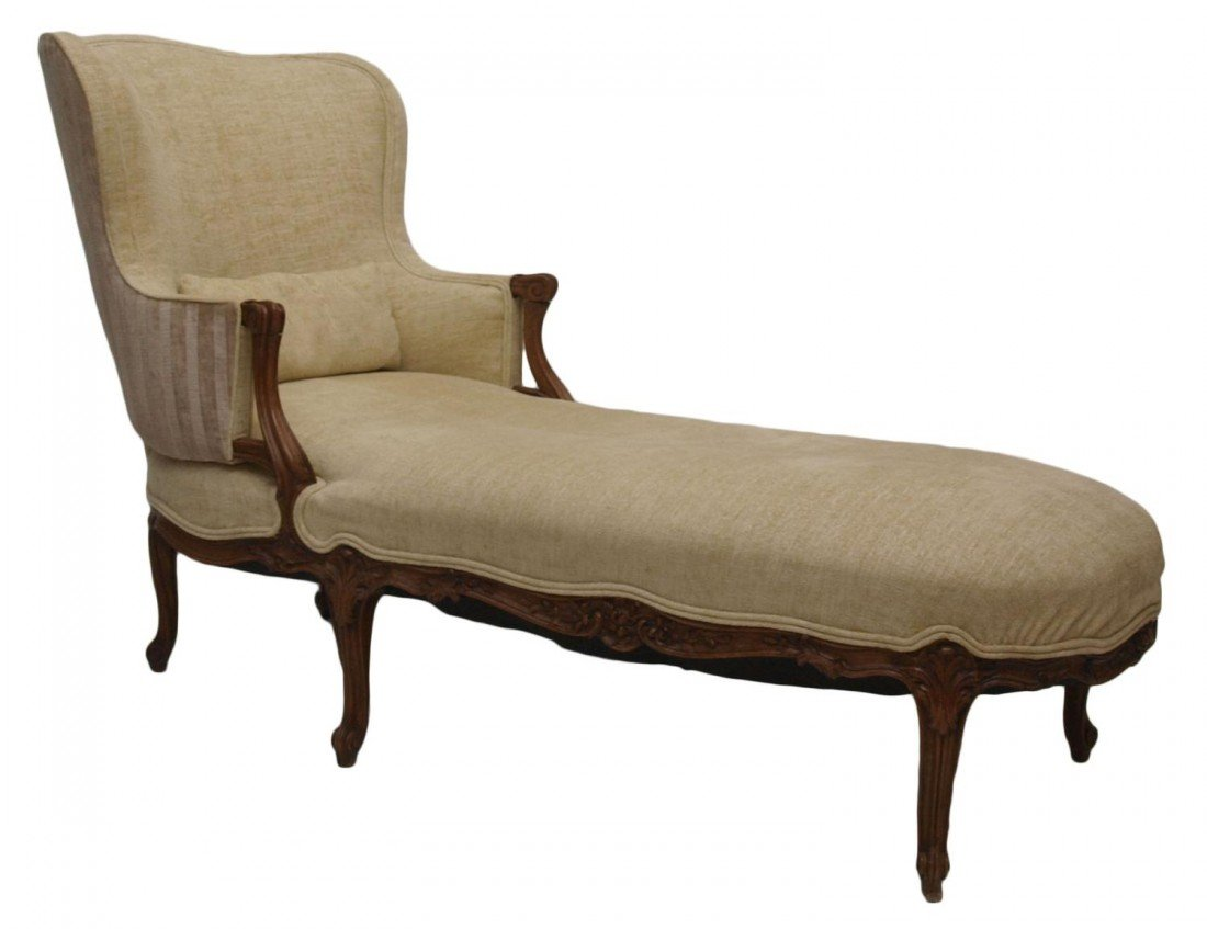 83: EXCELLENT FRENCH LOUIS XV STYLE CHAISE LOUNGE