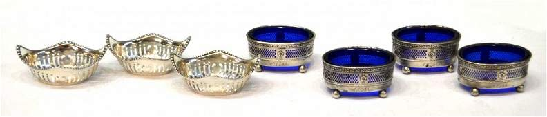 319: GROUP AMERICAN STERLING SILVER SALT & NUT DISHES