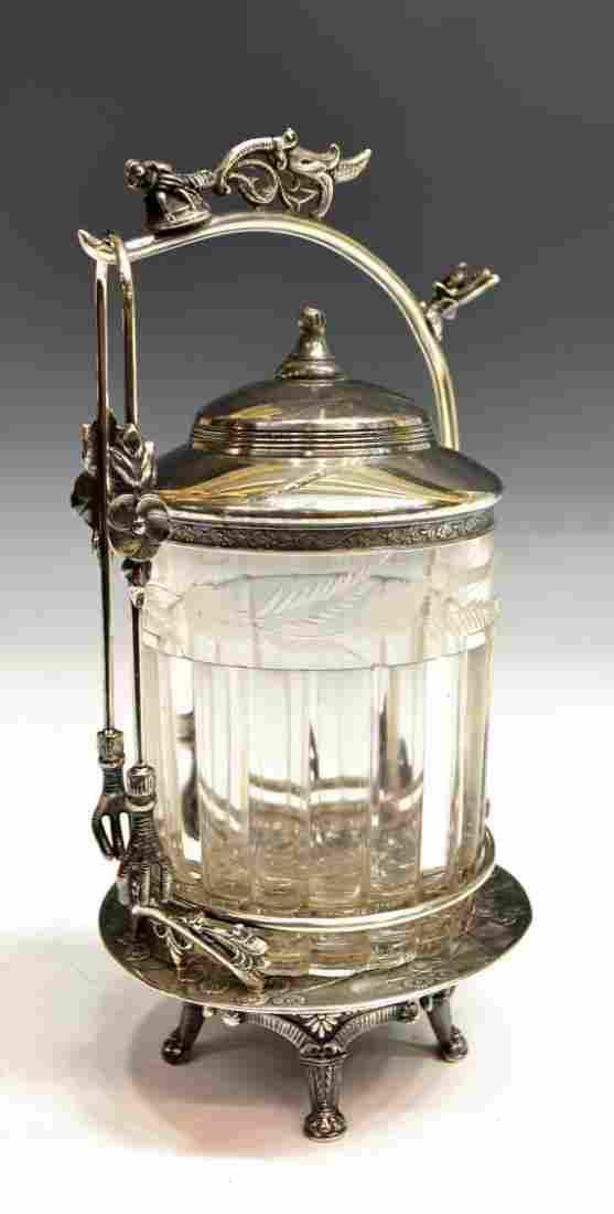 4: ROCKFORD PICKLE CASTOR, ETCHED & PANELED GLASS