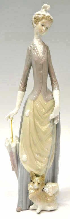 8: LLADRO PORCELAIN, 'WOMAN,' #4761, RETIRED