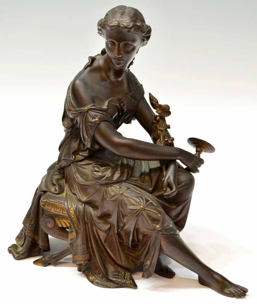 241: CONTINENTAL BRONZE SIGNED SCULPTURE, DORIOT
