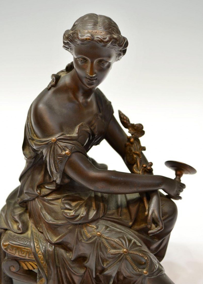 241: CONTINENTAL BRONZE SIGNED SCULPTURE, DORIOT - 2