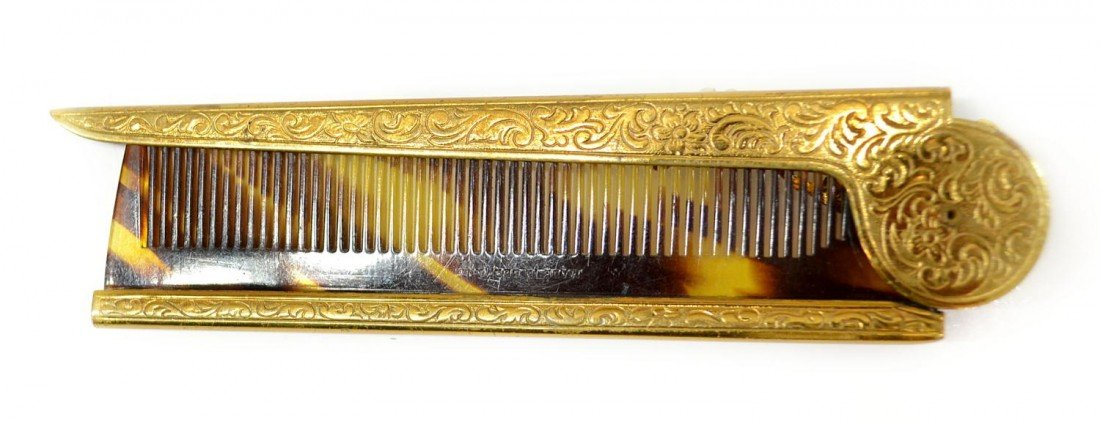13: VINTAGE MIRIAM HASKELL BROOCH & FAUX TORTOISE COMB - 7