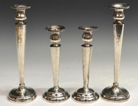 ASSORTED STERLING SILVER CANDLESTICK GROUP
