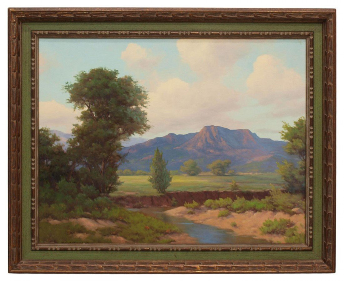 73: PAINTING, MOUNTAIN & RIVER, R.D. ENRIGHT 1921-1983
