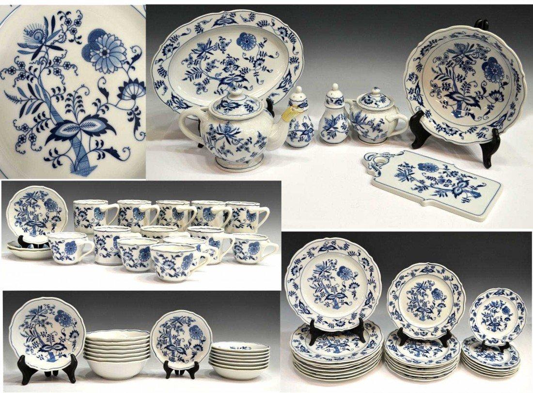 79: (59) BLUE DANUBE PORCELAIN DINNER SERVICE