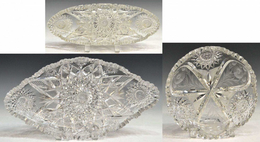 83: AMERICAN BRILLIANT INTAGLIO CUT FLUORESCENT GLASS