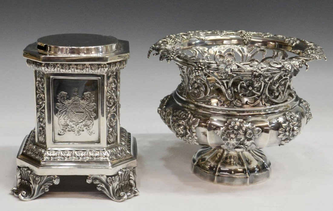 249: MATTHEW BOULTON STERLING CENTERPIECE, C.1830 - 5