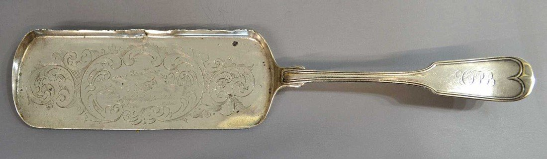 5: HENRY SALISBURY ENGRAVED COIN SILVER SERVICE ITEM