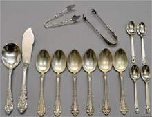 10: COLLECTION ASSORTED STERLING SILVER FLATWARE