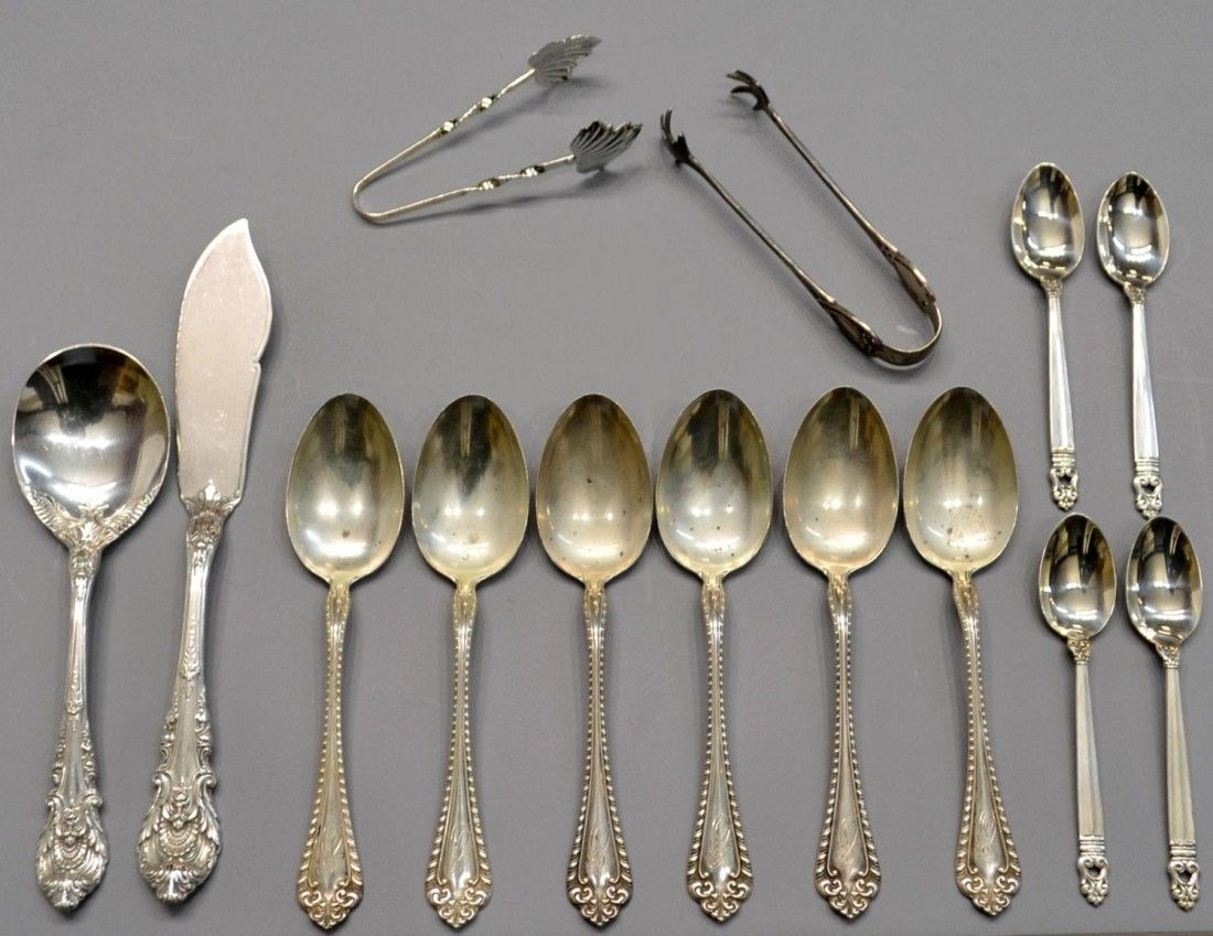 COLLECTION ASSORTED STERLING SILVER FLATWARE