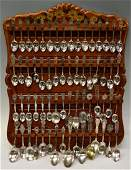 128: HUGE COLLECTION STERLING SILVER COLLECTORS SPOONS