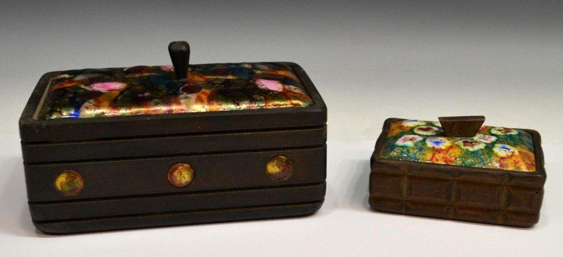 389: MID-CENTURY ESMALTES GARCIA ENAMELED COPPER BOXES
