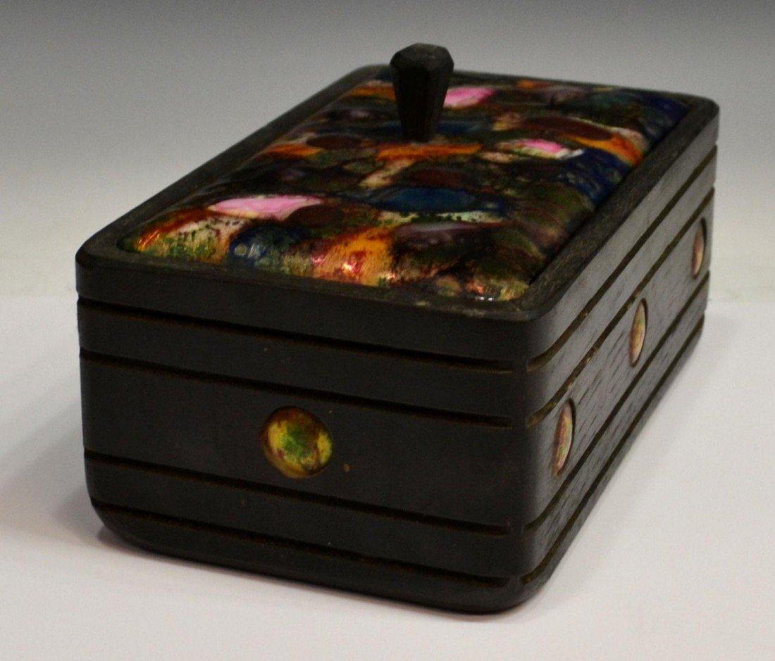 389: MID-CENTURY ESMALTES GARCIA ENAMELED COPPER BOXES - 3