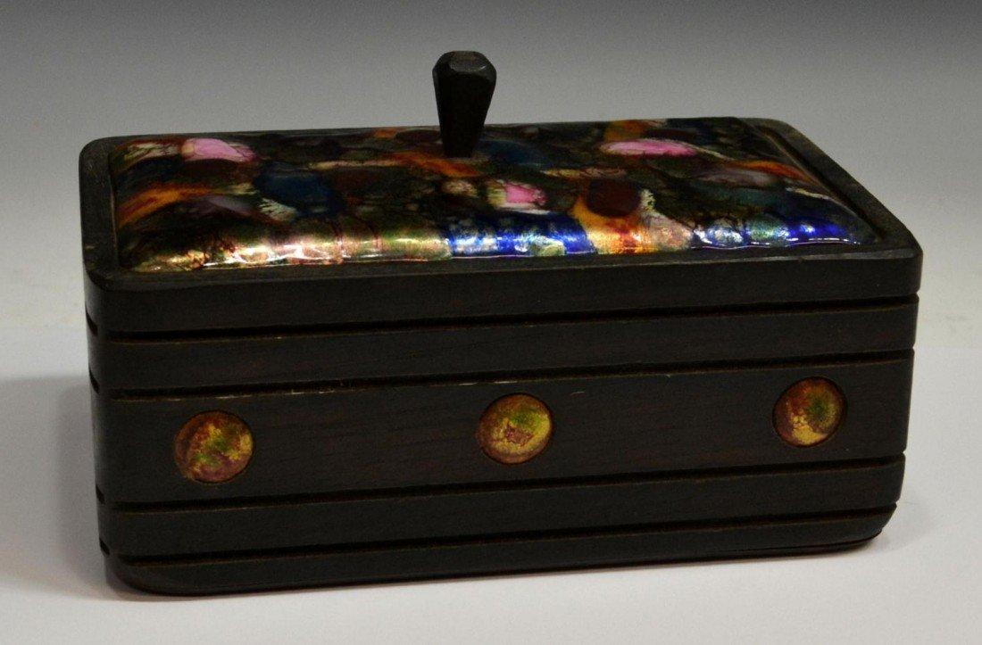 389: MID-CENTURY ESMALTES GARCIA ENAMELED COPPER BOXES - 4
