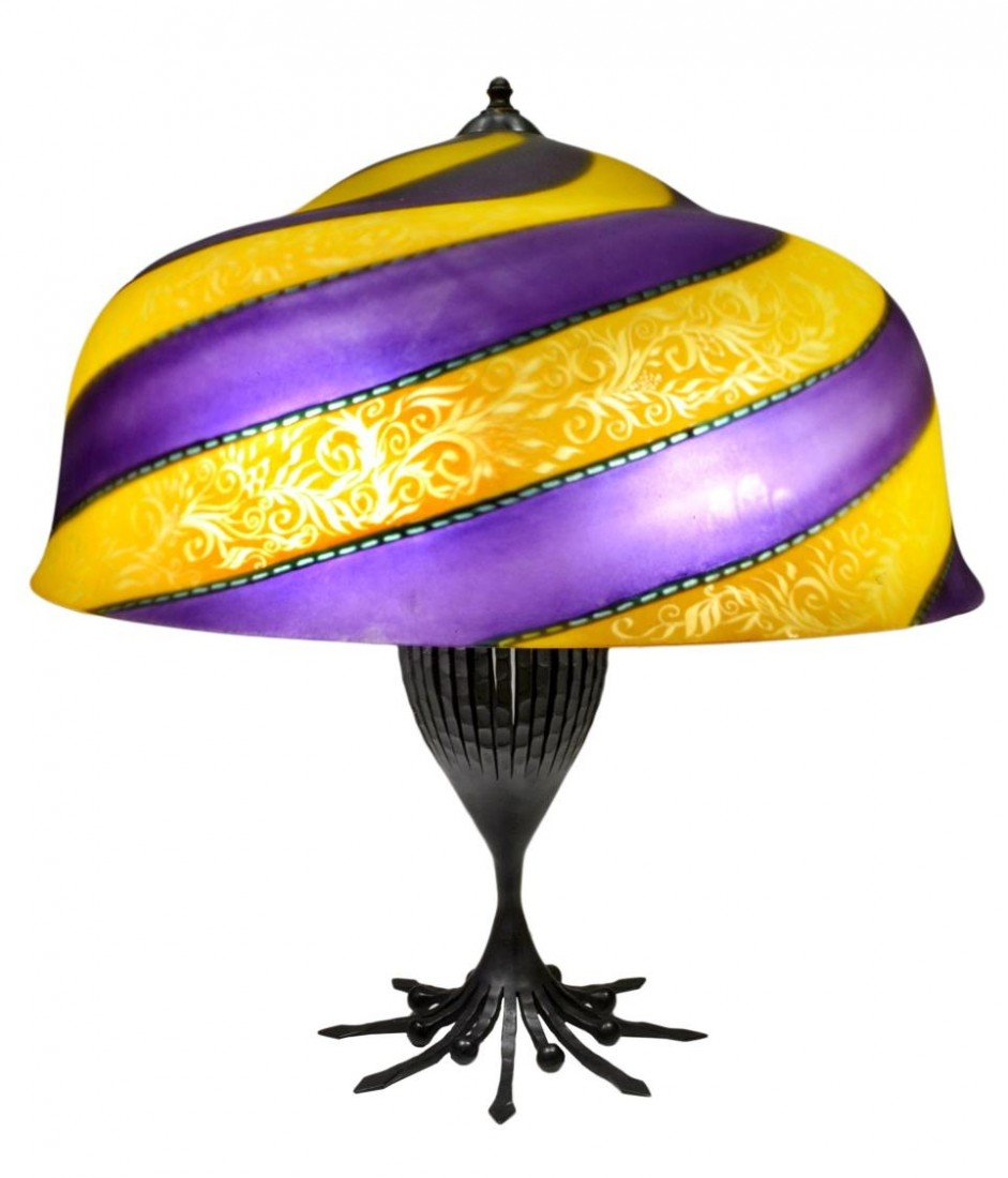 "10: (2) ULLA DARNI: 24"" VIENNA SHADE, TABLE LAMP BASE"
