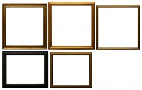 "(5) PICTURE FRAMES, VARIOUS SIZES TO 40"" X 40"""