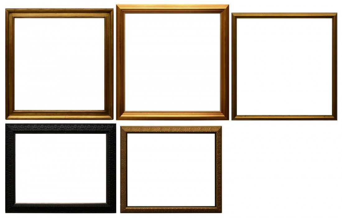 """51: (5) PICTURE FRAMES, VARIOUS SIZES TO 40"""" x 40"""""""