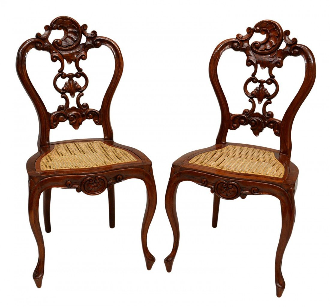 63: (PAIR) LOUIS XV STYLE SIDE CHAIRS
