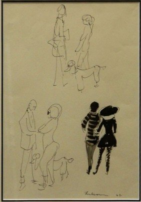FRAMED DRAWING, GUSTAV LIKAN (1912-1998)