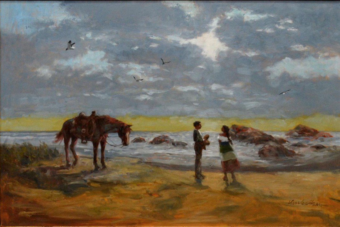 194: FRAMED OIL PAINTING, CHARLES SHAW, TEXAS,1941-2005