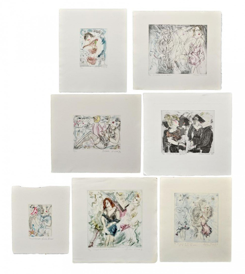 205: LIMITED COLOR ETCHINGS, SENSUAL, FREDERIC PIERRE