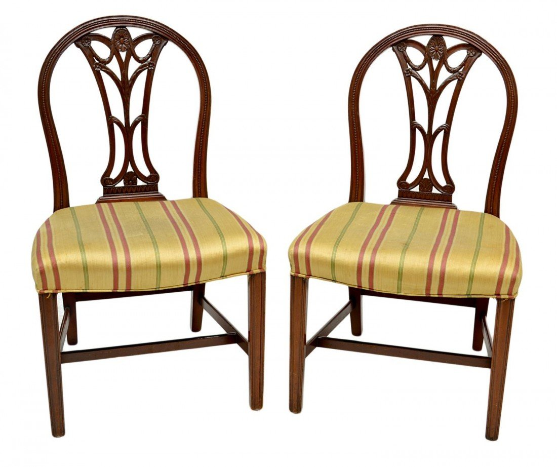 214: (PAIR) NEO CLASSICAL CHAIRS