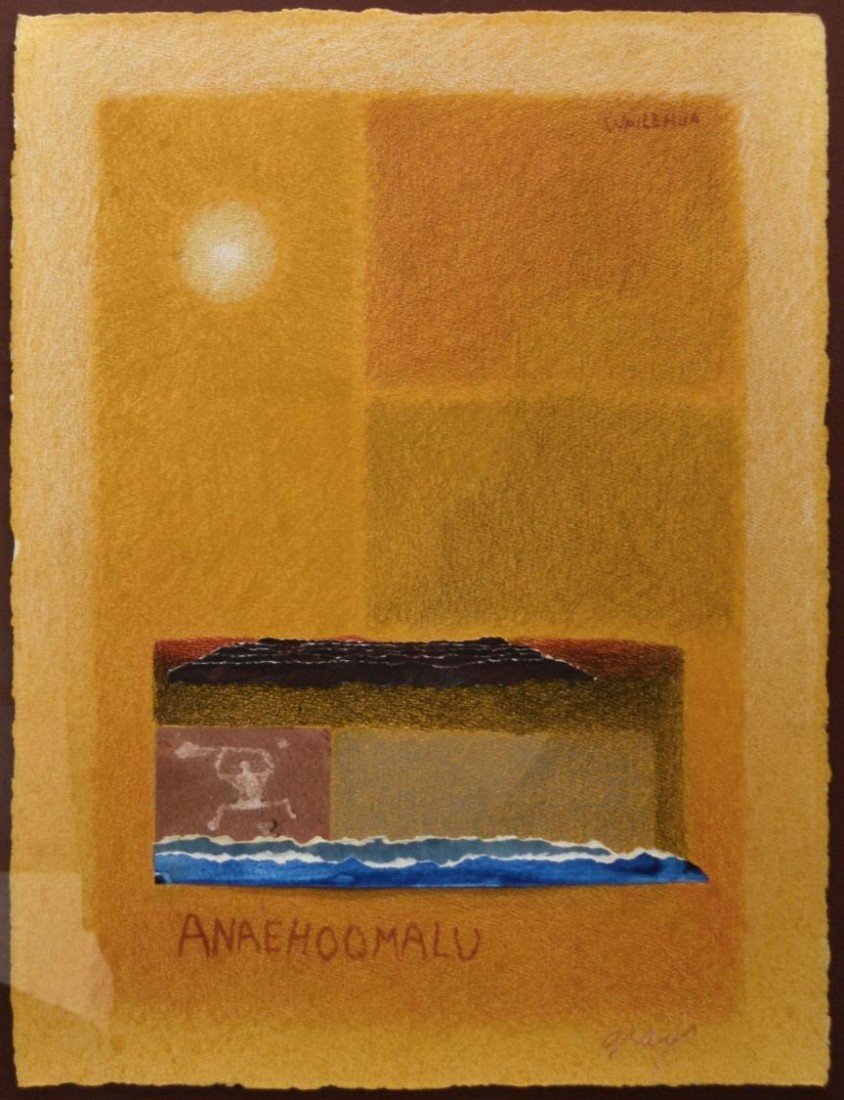 291: FRAMED PAINTING, WAILEHUA GRAY, HAWAII, 1933-2005