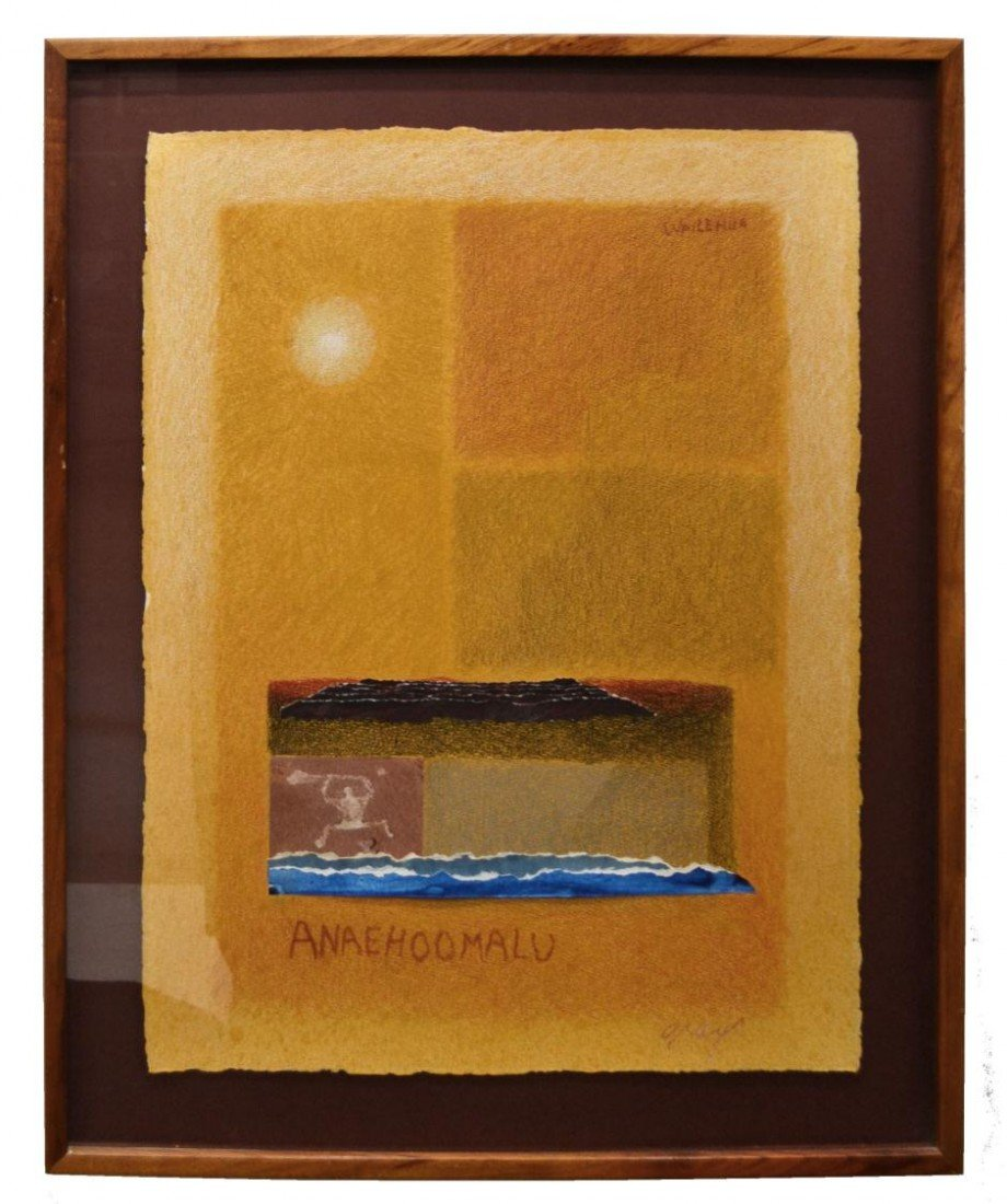 291: FRAMED PAINTING, WAILEHUA GRAY, HAWAII, 1933-2005 - 2
