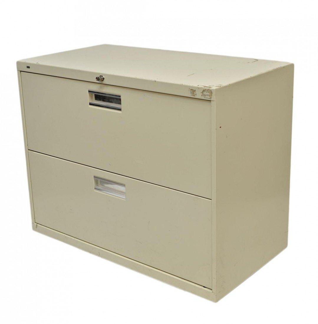 408: HON TWO DRAWER LATERAL FILE CABINET