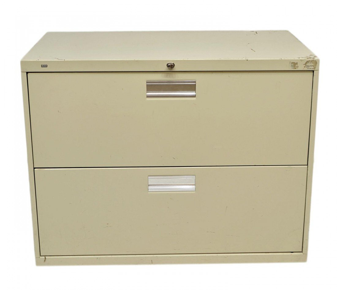 408: HON TWO DRAWER LATERAL FILE CABINET - 2