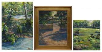443 3 OIL PAINTINGS LANDSCAPES VARIOUS ARTISTS