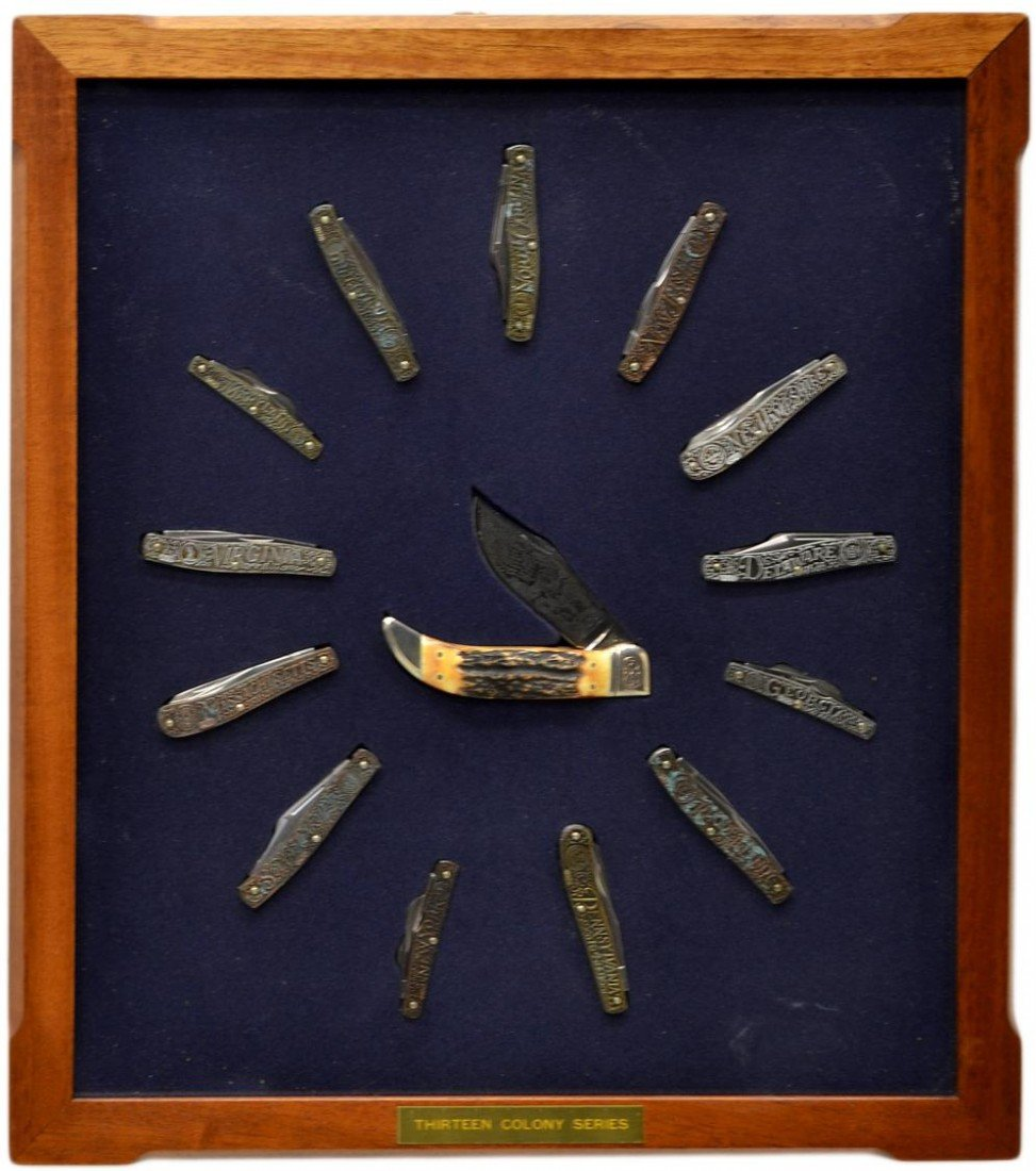 93: SCHRADE 13 COLONIES LIMITED KNIFE COLLECTION