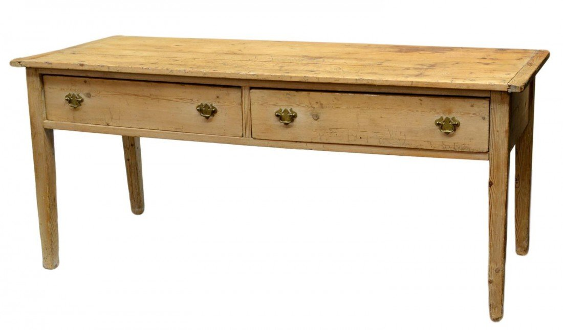 139: ANTIQUE PINE FARMHOUSE KITCHEN DRESSER - 3