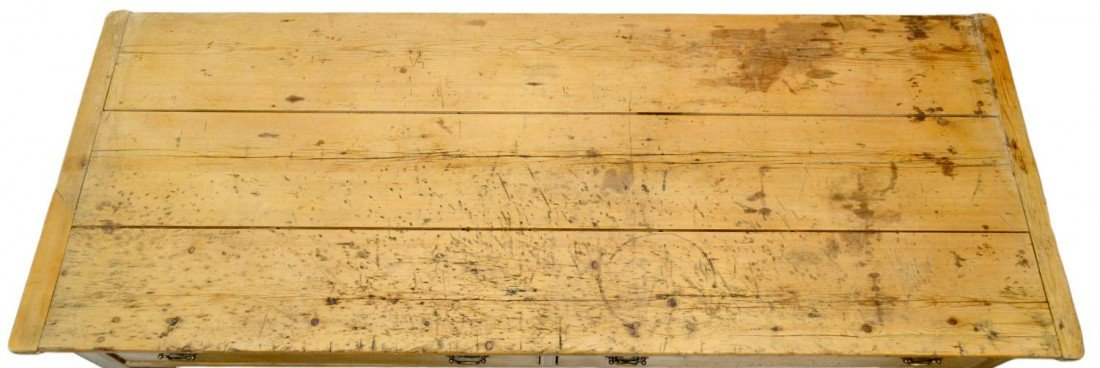 139: ANTIQUE PINE FARMHOUSE KITCHEN DRESSER - 4