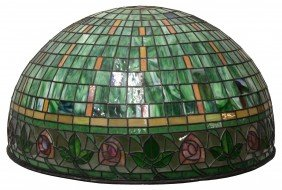 LARGE & IMPRESSIVE STAINED LEADED GLASS CANOPY