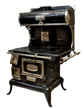 COMFORT GAS STOVE, IRON & NICKEL ACCENTS, 1920's